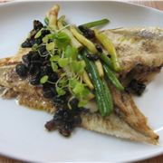 Plaice with asparagus