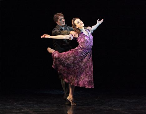 Northern Ballet%26#8217%3Bs Hamlet. Christopher Hinton-Lewis and Georgina May. Photo by Dee Conway.