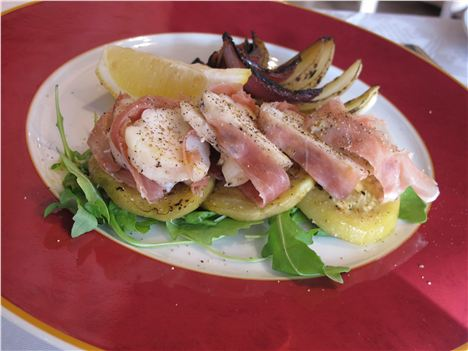 Monkfish with pancetta