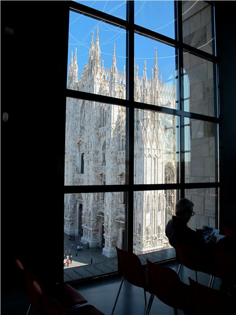 The Duomo Viewed Thrpught The Windows Of The Nuevocento Museum