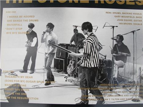 Stone Roses back in the day on the back of that album