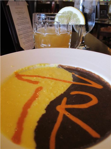 Sweet Corn:Blacl Beam Soup At La Posada